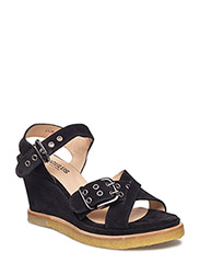 Sandals - wedge - 1163 BLACK