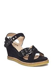 Sandals - wedge - 1163 BLACK