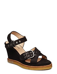 Sandals - wedge - 1200 BLACK