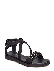 Sandals - flat - open toe - op - 1200 BLACK
