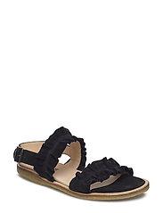 Sandals - flat - open toe - op - 1163 BLACK