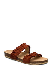 Sandals - flat - open toe - op - 2208 RUST