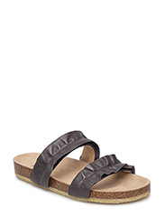 Sandals - flat - open toe - op - 1515 ANTHRACITE