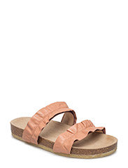 Sandals - flat - open toe - op - 1533 DUSTY PEACH