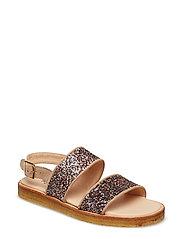 Sandals - flat - open toe - op - 1149/2488 SAND/MULTI GLITTER