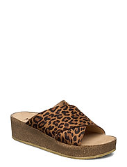 Sandals - flat - open toe - op - 2164 LEOPARD