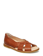 Sandals - flat - open toe - op - 1431/002 COGNAC/BROWN