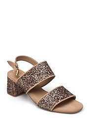 Sandals - Block heels - 1149/2488 SAND/MULTI GLITTER