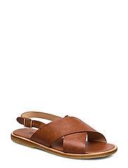 Sandals - flat - open toe - op - 1789 TAN