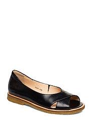 Sandals - flat - open toe - clo - 1835/001 BLACK/BLACK