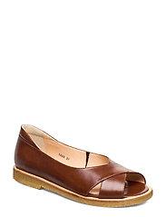 Sandals - flat - open toe - clo - 1837/002 BROWN/DARK BROWN