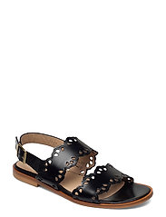 Sandals - flat - open toe - op - 1835 BLACK