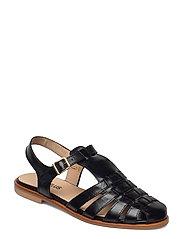 Sandals - flat - closed toe - op - 1835 BLACK