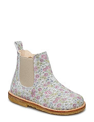 Booties - flat - with zipper - 2492/010 MULTI FLOWER/BEIGE