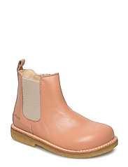 Booties - flat - with zipper - 1533/010 DUSTY PEACH/BEIGE