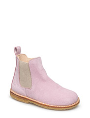 Booties - flat - with zipper - 1143/010 ROSE/BEIGE