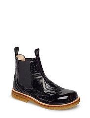 Booties - flat - with elastic - 1310/001 BLACK/BLACK