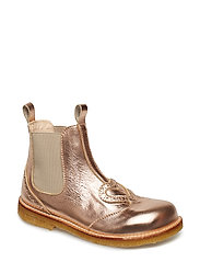 Booties - flat - with elastic - 1311/010 L.COPPER/BEIGE