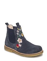 Booties - flat - with elastic - 1147/027 NAVY/M?RK BL?