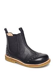 Booties - flat - with elastic - 1933/001 BLACK/BLACK