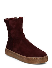 Boots - flat - with zipper - 2195/2018 BORDEAUX/BORDEAUX LA