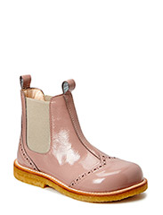 Booties - flat - with elastic - 1387/010 PATENT POWDER/BEIGE