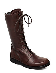 Long boot with laces. - 1562 ANGULUS BROWN