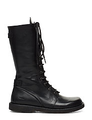 Long boot with laces.