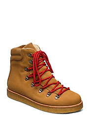 Boots - flat - with laces - 1262/1168 CAMEL/TAN