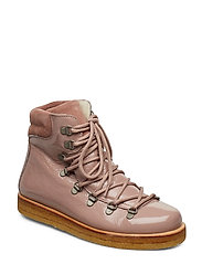 Boots - flat - with laces - 1387/2194 OLD ROSE/POWDER