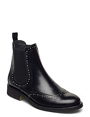 Booties - flat - with elastic - 1835/019 SORT/SORT