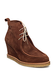 Booties - Wedge - 1166 COGNAC