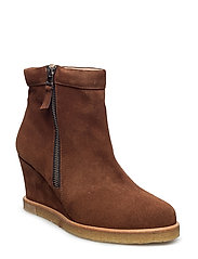 Boots - wedge - 1166 COGNAC