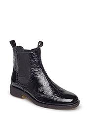 Booties - flat - with elastic - 1310/019 BLACK/BLACK