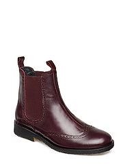 Booties - flat - with elastic - 1839/031 AMARONE/BORDEAUX