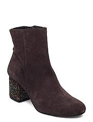 Bootie - block heel - with zippe - 2193/2487 BROWN/COPPER GLIT