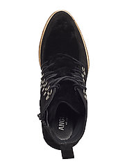 Booties - Wedge - 1163/2014 BLACK/BLACK LAMB WOO
