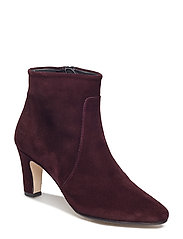 Bootie - block heel - with zippe - 2195 BORDEAUX