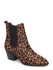 Booties - Block heel - with elas - 1110/019 LEOPARD/ELASTIC