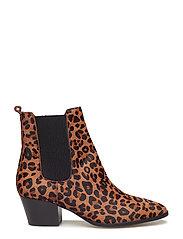 ANGULUS - Booties - Block heel - with elas - stiefeletten mit absatz - 1110/019 leopard/elastic - 2