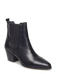 Booties - Block heel - with elas - 1604/019 BLACK/BLACK