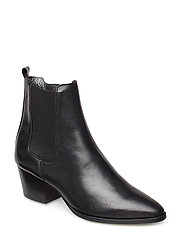 Booties - Block heel - with elas - 1604/019 BLACK/BLACK