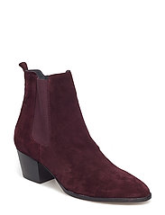 Booties - Block heel - with elas - 2195/031 BORDEAUX
