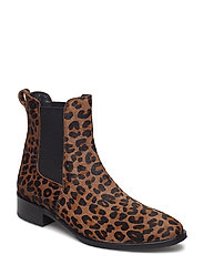 Booties - flat - with elastic - 1110/019 LEOPARD/ELASTIC