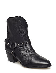 Bootie - block heel - with zippe - 1933 BLACK