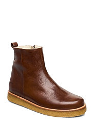 Boots - flat - with laces - 2509 COGNAC