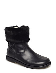 Booties - flat - with elastic - 1604/2014 BLACK/BLACK LAMB WOO
