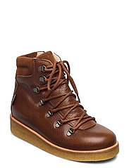 Boots - flat - with velcro - 2509/1166/1660 COGNAC/BROWN/BR