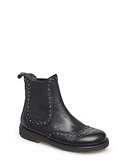 Booties - flat - with elastic - 1933/019 BLACK/BLACK