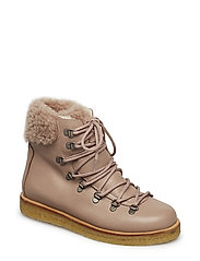 Boots - flat - with laces - 2550/2019 DUSTY MAKEUP/POWDER